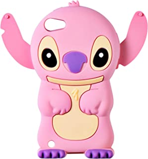 Pink Stitch Case for Apple iPod Touch 6th 5th Generation,3D Cartoon Animal Cute Soft Silicone Rubber Character Cover,Food Design Kawaii Fashion Cool Protective Skin for Kids Child Teens Girls(Touch5)
