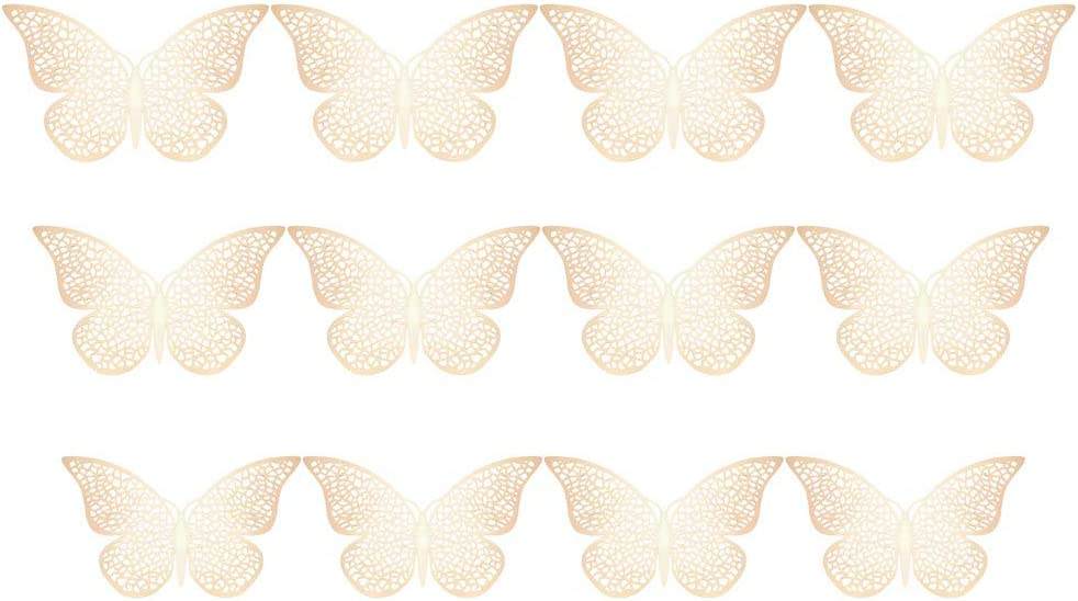 RYGHEWE Butterfly Wall All items free shipping Decor 12 pcs Butter Decorations Cheap