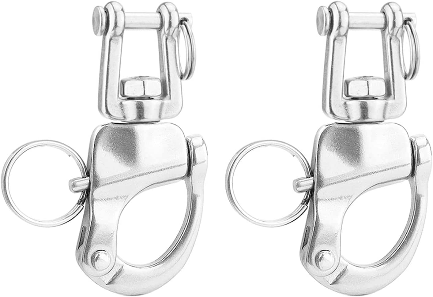 YDSHOLL 2PCS 316 Stainless Steel Release Quick Shackle Swivel Bo Overseas parallel import regular Super beauty product restock quality top! item