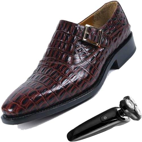 marrón Hebilla zapatos Puntiagudos De Los hombres De Negocios Caballero De Inglaterra Cuero Suave Transpirable zapatos De La Boda El Trabajo