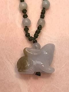 Rabbit Zodiac Handmade Jade Necklace Jewelry