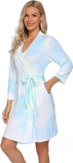 Women Kimono Robes Cotton Lightweight Robe Short Knit...
