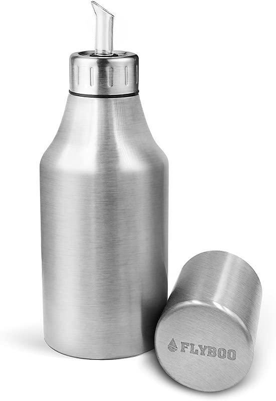 Flyboo Oil Dispenser Olive Oil Bottle Unbreakable Stainless Steel By 35oz 1000ML