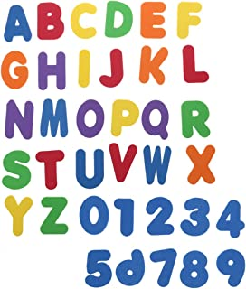 Toyvian 36pcs Sponge Foam Letters and Numbers Tub Bath Toy Swimming Play Early Development Infant Preschool Toy Set for Ne...