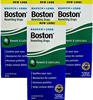 Bausch + Lomb Boston Rewetting Drops - 0.33 oz, Pack of 4