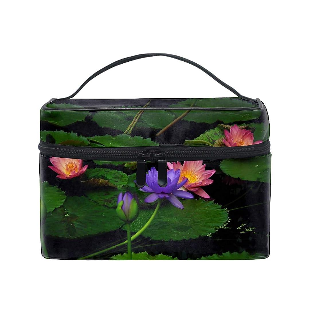 ゴージャスモーション露骨なコスメポーチ 化粧品収納バッグ 洗面用具 おしゃれゆりの葉