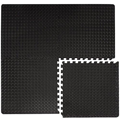 EYEPOWER 4er Set 2cm Bodenschutzmatten 63x63 - Fitness Bodenmatte 1,6qm - Schutzmatte mit Rand