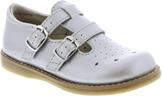 FOOTMATES Girl's Danielle Double-Buckle Perf English Sandal (Infant/Toddler/Little Kid) Silver