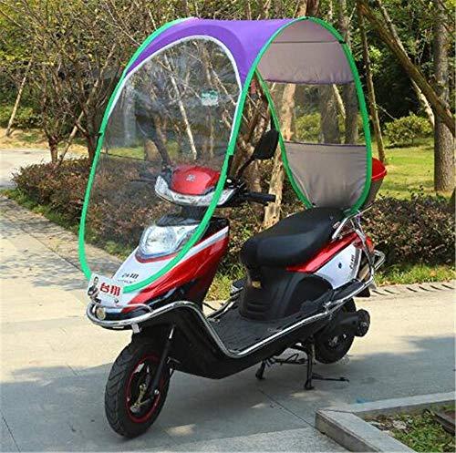 General Universal Bicicleta Eléctrica Paraguas Impermeable Plegable Completamente Cerrado, Toldo de Motocicleta...