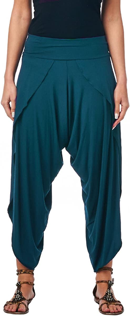 Popana Women's Casual Summer Boho Harem Jogger Pants Gaucho Culottes Made in USA