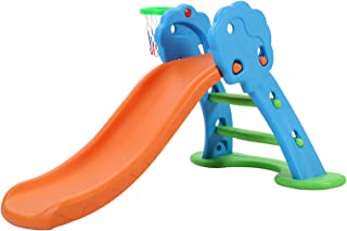 Keezi Slide with Basketball Hoop for Kids