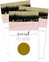 Paper Clever Party Scratch Off Game Cards Pink and Black (Pack of 28) Bridal Shower Weddings Baby Raffles