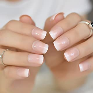 Set Complet 10 Poses Capsules Blanc Naturel Set 100 Faux Ongles Nail Art