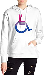 VJJ AIDEAR Disabled Bisexual Pride Women's Sweater Printed Hoodied Long Sleeve Coat