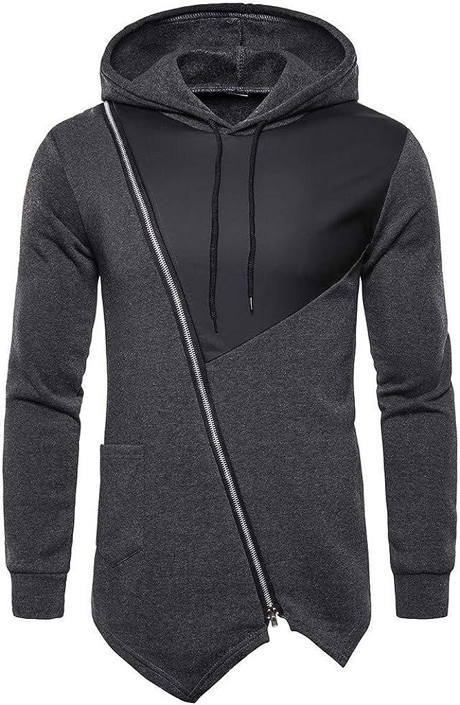 MODOQO Men's Zipper Pullover Hoodies Sweatshirt Long Sleeve Outdoor Sports Gyms Running Coat
