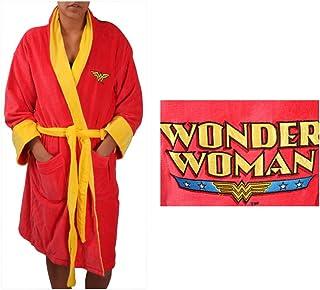 Robe Factory Women's DC Wonder Woman Cotton Robe, Red, OS