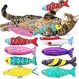 AWOOF - Juego de 8 Juguetes para Gatos, para Gatos y Gatos, para rascarse y Masticar Dientes de Limpieza, Almohada Creativa, arañazos, Dientes de Gato para Mascotas, Juguetes para Masticar