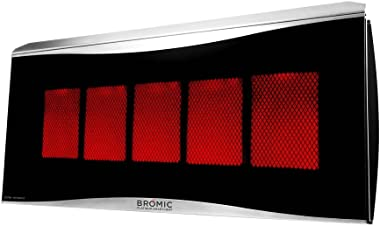 Bromic Heating BH0110003-1 Smart-Heat Platinum 500 Radiant Infrared Patio Heater, Natural Gas, 39800 BTU