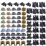 FutureShapers 70pcs. Set di Giubbotti Personalizzati per la Polizia Set di Mini Soldati della Squadra SWAT, abbinati al Lego