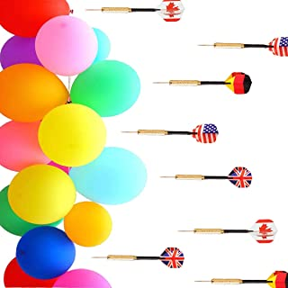 "GuassLee 500 Pcs Balloon Darts Carnival Game - 6"" Latex Balloon Game Water Balloons and 8 Pcs Plastic Darts Bundle for Birthday Party Games, Outdoor Carnival Pop Party"