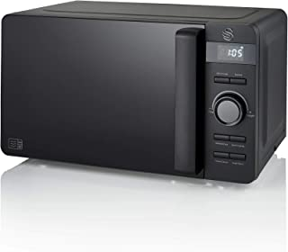 Swan Stealth 20L Microwave, Matte Black, 800W, MAFF E, Various Power Levels, 60 Minute Timer and Digital Display, SM22037BLKN