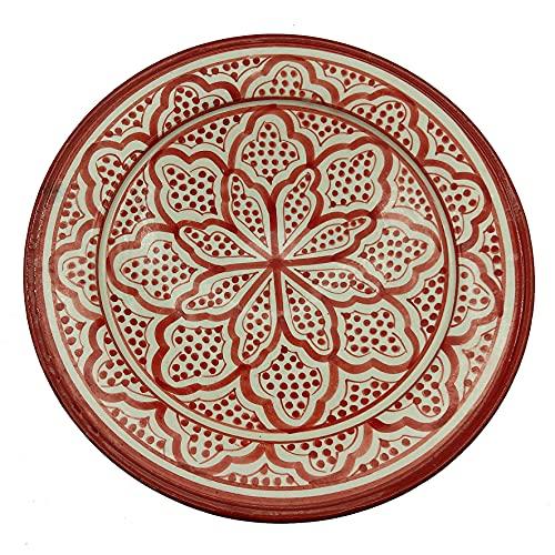Plato de cerámica terracota pared capacidad étnico marroquí Tunisino 2204211008