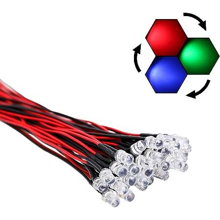 RGB LED LEDs 5mm Flashing discoflasher resistance 100 St