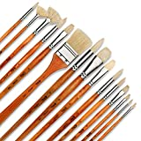 Best Oil Paint Brushes - Artify 15 pcs Professional Paint Brush Set Perfect Review