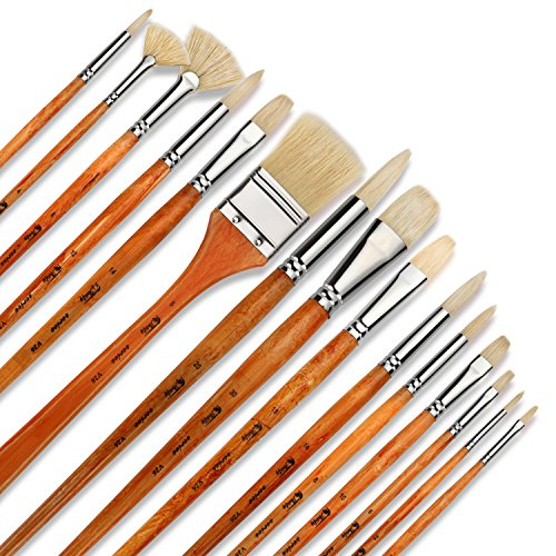 Artify 15 pcs Professional Paint Brush Set Perfect for Oil...