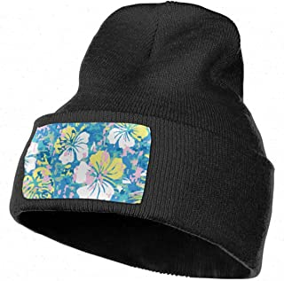 4d03366154f Unisex Aloha Hawaiian Camouflage Flower Beanie Skull Caps Knit Hat for  Winter Warm Hat