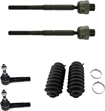 Detroit Axle - New 6pc Inner Outer Tie Rod Kit w/Steering Rack Boots for 2005-2010 Dodge Dakota - [2006-2009 Mitsubishi Raider]