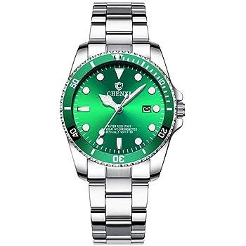 Women's Classic Fashion Silver Stainless Steel Watches Waterproof Date Luminous Lady Dress Wrist Watch