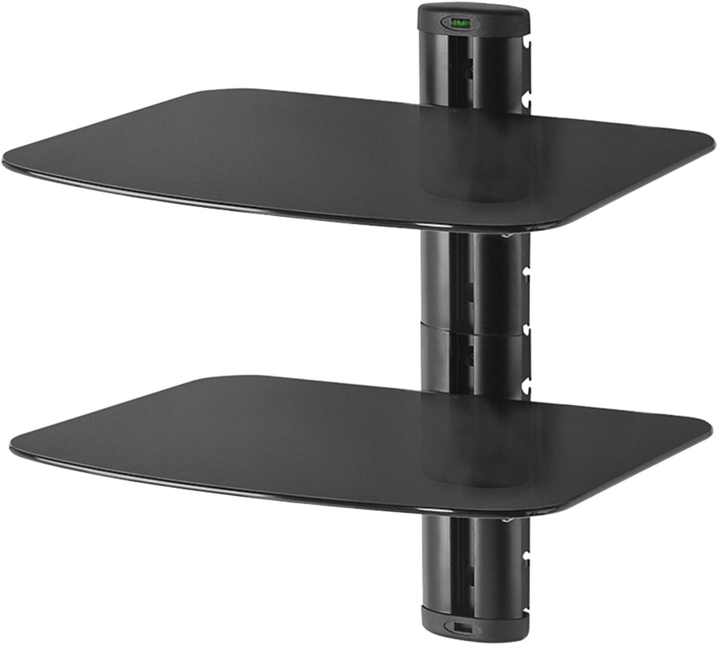 Peerless-AV ESHV30 A V Max 69% OFF Wall List price with Glass Dual Shelf Shelves
