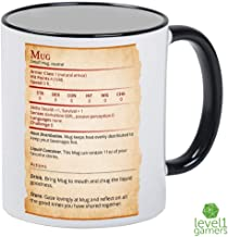 Mug Stat Card Dungeons And Dragons Mug - 11oz Ceramic DnD Cup - Awesome Roleplaying Gift Idea For Dungeon Masters, Player Characters, Friends, Him or Her