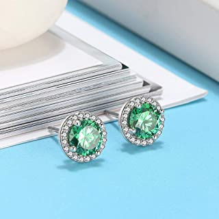 JJGL 925 Sterling Silver Cute Earrings For Women Fashion Crystal Jewelry