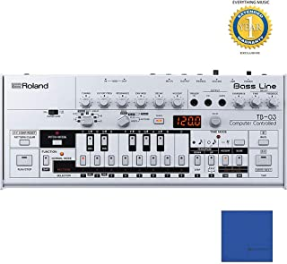 Roland TB-03 Boutique Bass Line with Microfiber and 1 Year Everything Music Extended Warranty