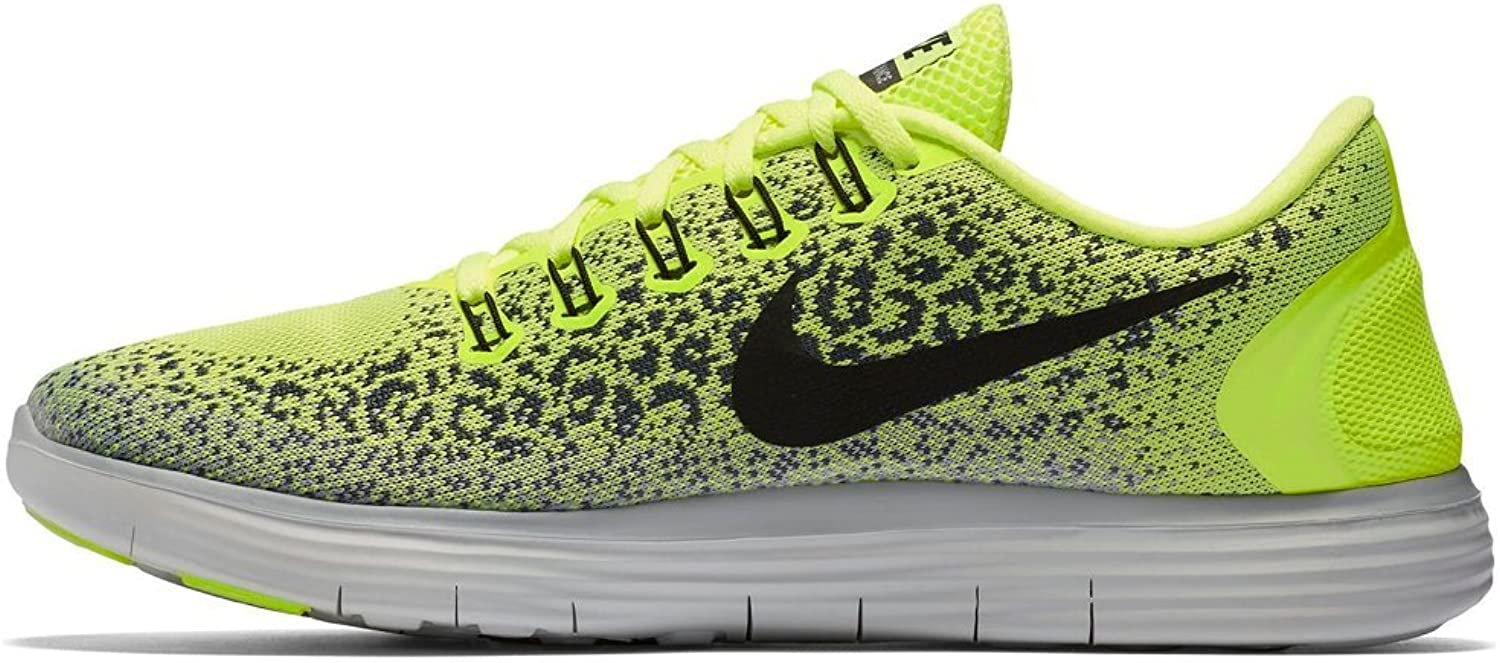 Nike Men's RN Distance Volt Black-Dark Grey-Wolf Grey 12.5