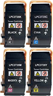 【Amazon.co.jp限定】エプソン用 LPC3T35 互換トナーBK/C/M/Y 「4色セット」ブラック/シアン/マゼンタ/イエロー(LPC3T34も対応可能)対応機種:EPSON LP- S6160 国際規格ISO9001認証工場生産 ...