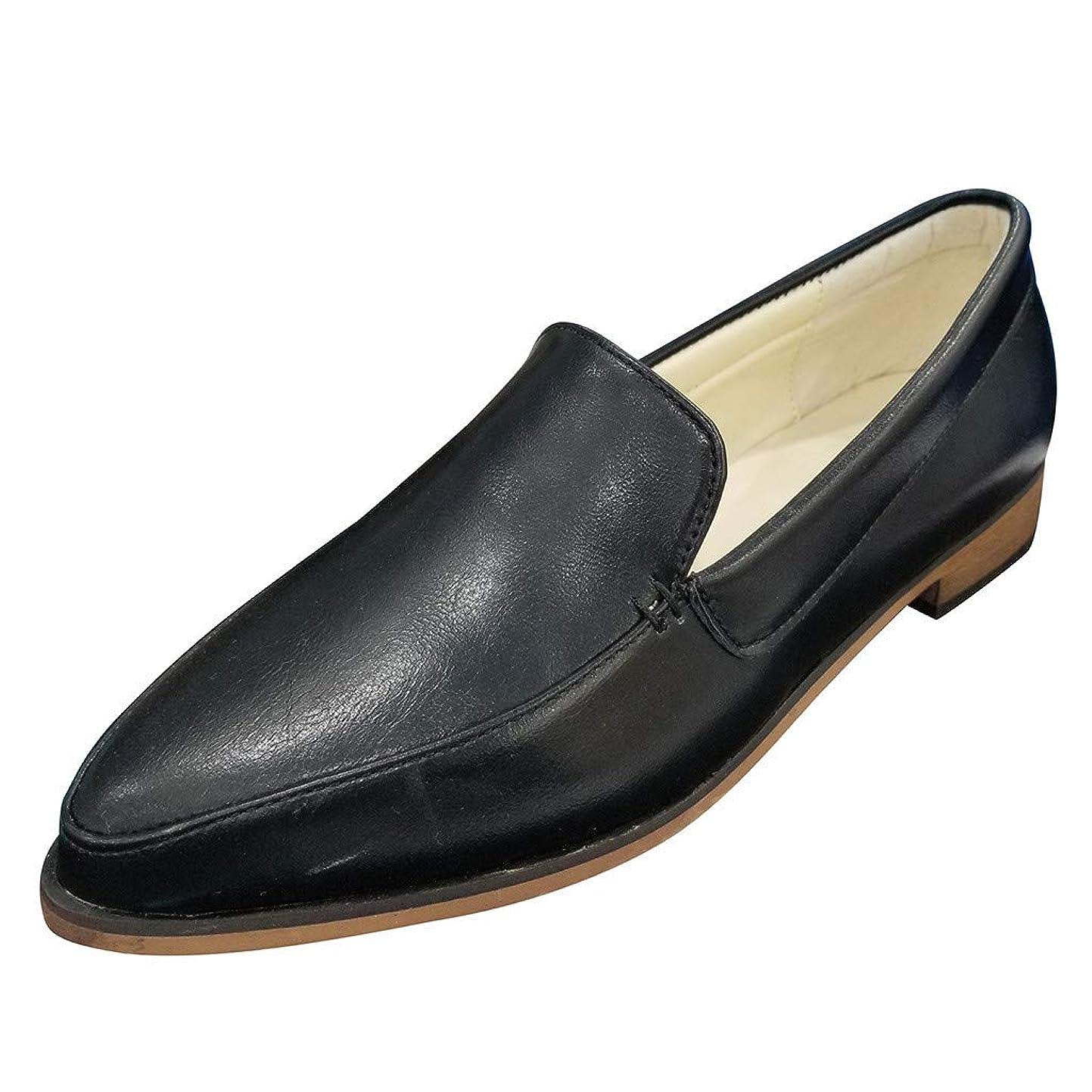ギャラリー酸っぱい赤幸運な太陽 レディースシューズ カジュアル ラウンドヘッドセット ローヒール 靴 シングルシューズ レザーシューズ 通勤 通学 歩きやすい 滑りにくい 美脚 2.5cmヒール