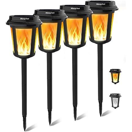 4//6PCS 12 LED Solar Power Torch Light Flickering Flame Garden Pathway Yard Lamp