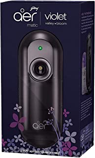 Godrej aer matic, Automatic Air Freshener Kit with Flexi Control - Violet Valley Bloom (225 ml)