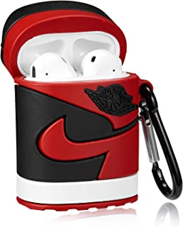 Gift-Hero Compatible with Airpods 1&2 Soft Silicone Cute Case, Cartoon 3D Fun Luxury Funny Cool Designer Kits Character Skin Fashion Stylish Chic Cover for Girls Boys Kids Teens Air pods (Red Shoes)