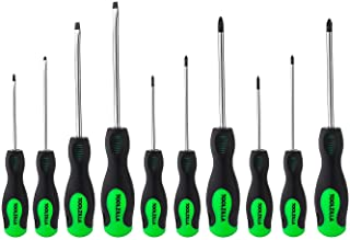 TOOLZILLA Screwdriver Set, 10 Pieces, Magnetic Screwdriver Set, Flathead Screwdrivers, Magnetic Screwdriver Do it Yoursel...