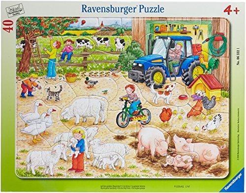 Ravensburger 06332 Nella grande Fattoria- Puzzle incorniciato da 40 pezzi