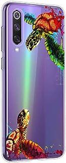 Oihxse Funda para Xiaomi Pocophone F1 Transparente, Estuche con Xiaomi Pocophone F1 Ultra-Delgado Silicona TPU Suave Protectora Carcasa Océano Animal Serie Bumper (C9)
