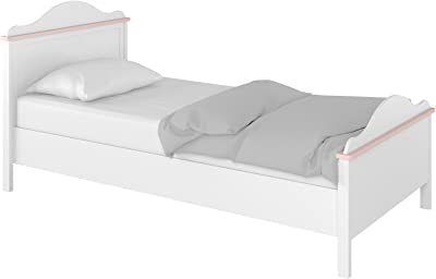 Amazon Com Naples White Queen Bed By Home Styles Kitchen