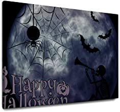 NOAON 40x30 Inches Wall Art for Home Decor Ready to Hang Halloween Dark System Style Canvas Pictures Prints Wood Framed
