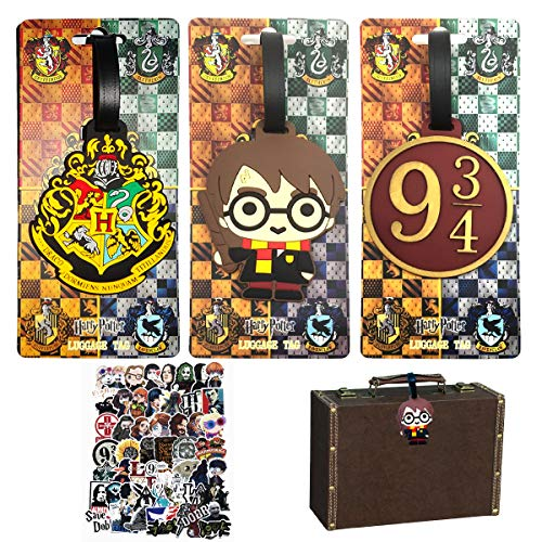 Harry Potter Luggage Tags,Name ID Labels,Luggage ID Tags,Personalized Suitcase Tag Set,Labels Travel Accessories,Suitcase Card Holder Bag Tag Name Address ID Bag Label,PVC Identifier Label Holders