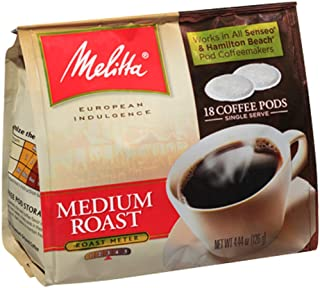 Melitta 75448 Medium Roast Soft Pod Pack 18 Count