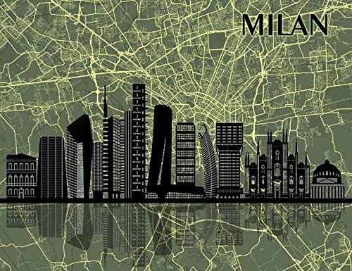 Milan Italy Map City Print Poster Art Decor Gift